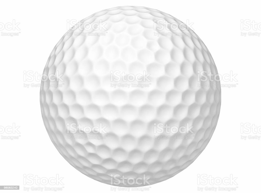 Close-up of 3D white golf ball royalty-free stock photo