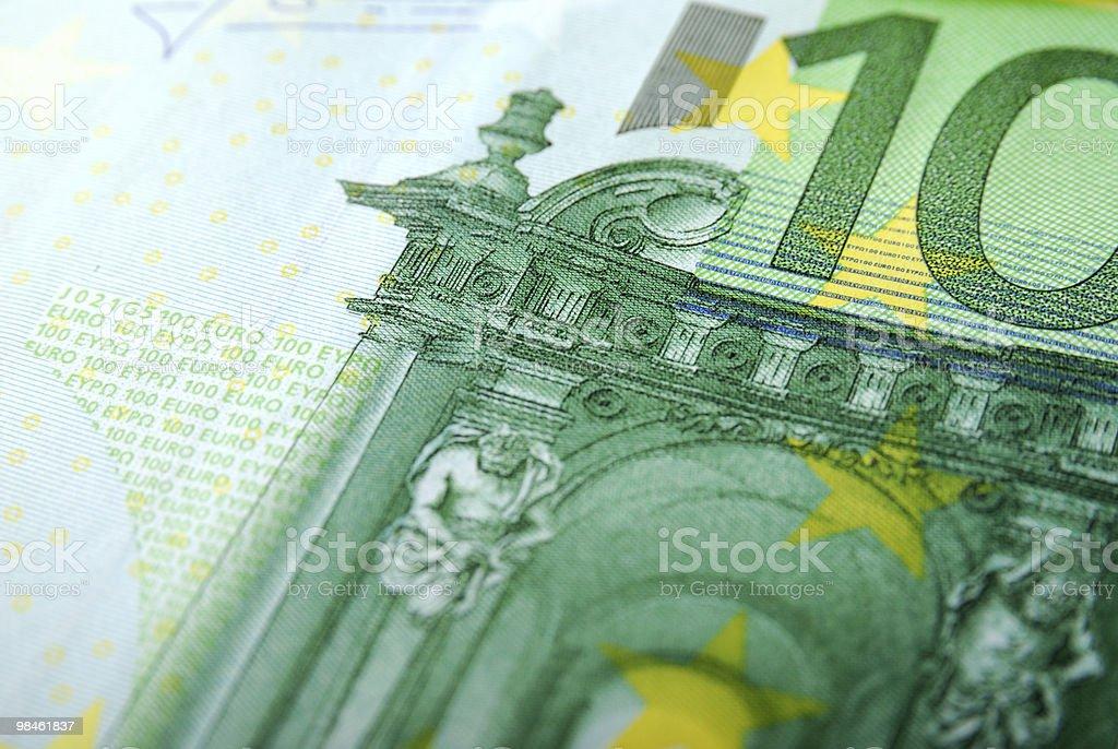 Close-up of a 100 Euro Bill royalty-free stock photo