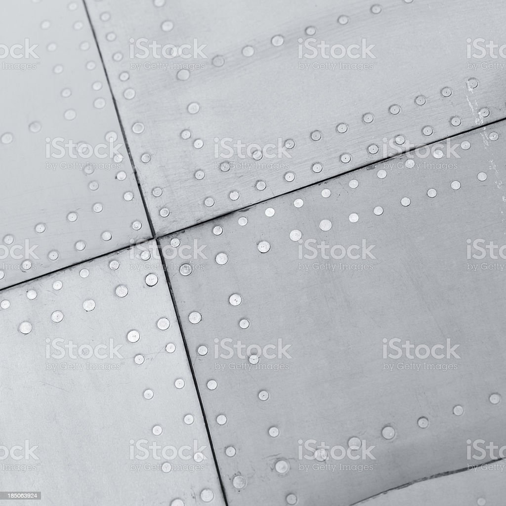 Close-up of a aircraft background texture royalty-free stock photo