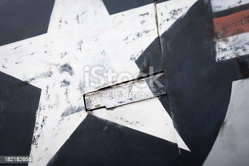 Close-up of a aircraft texture