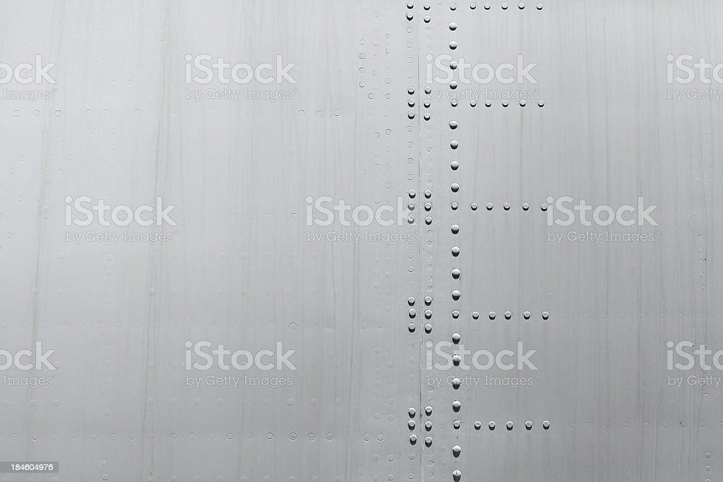 Close-up of a aircraft texture royalty-free stock photo