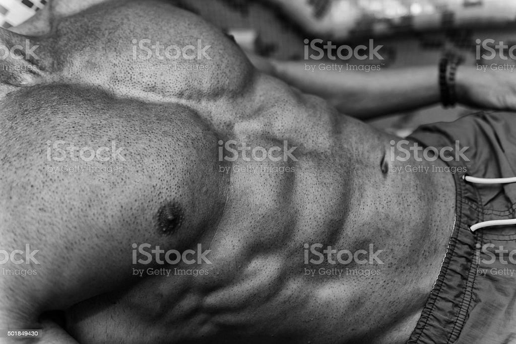Closeup Of A Attractive Body In Sauna Stock Photo Download