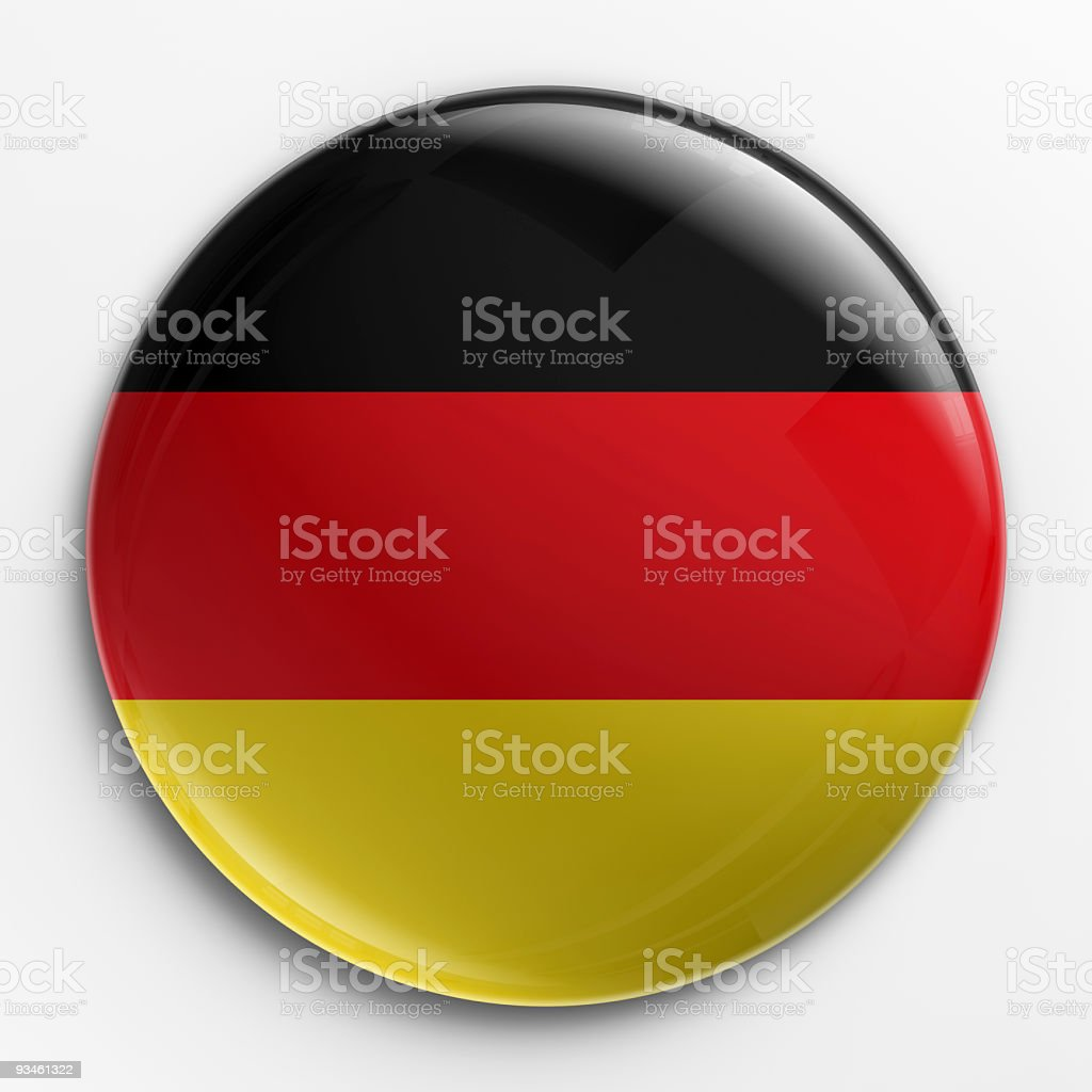 Close-up of a badge which a German flag on it royalty-free stock photo