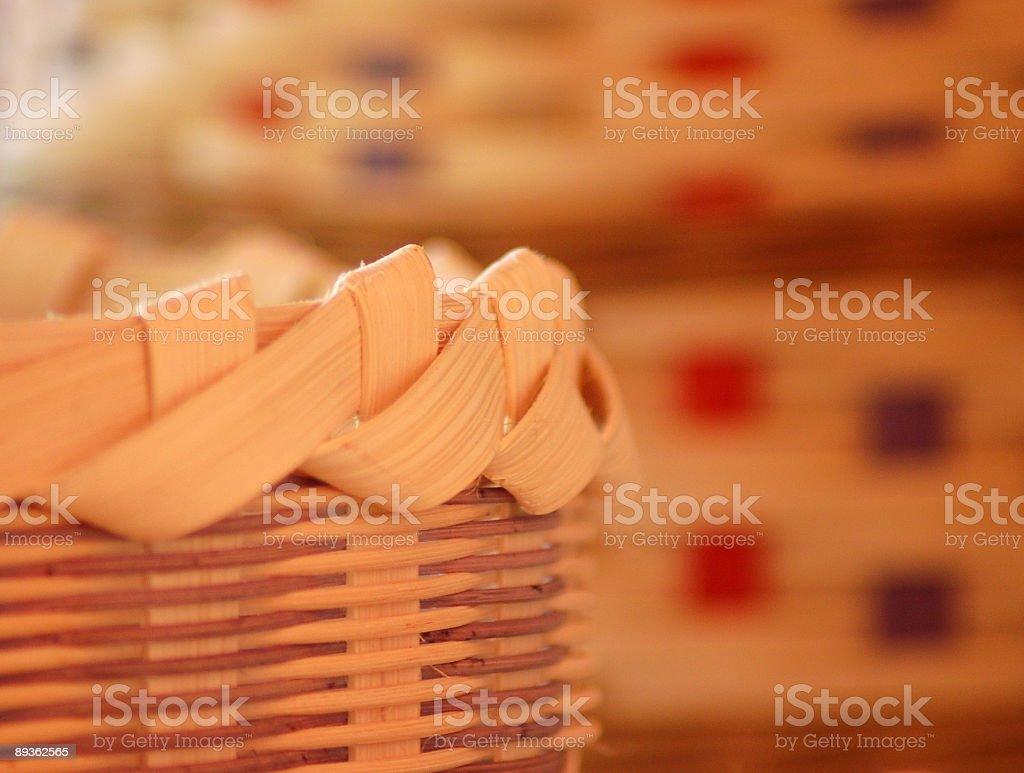 Close-up of a Basket and Rim royalty-free stock photo