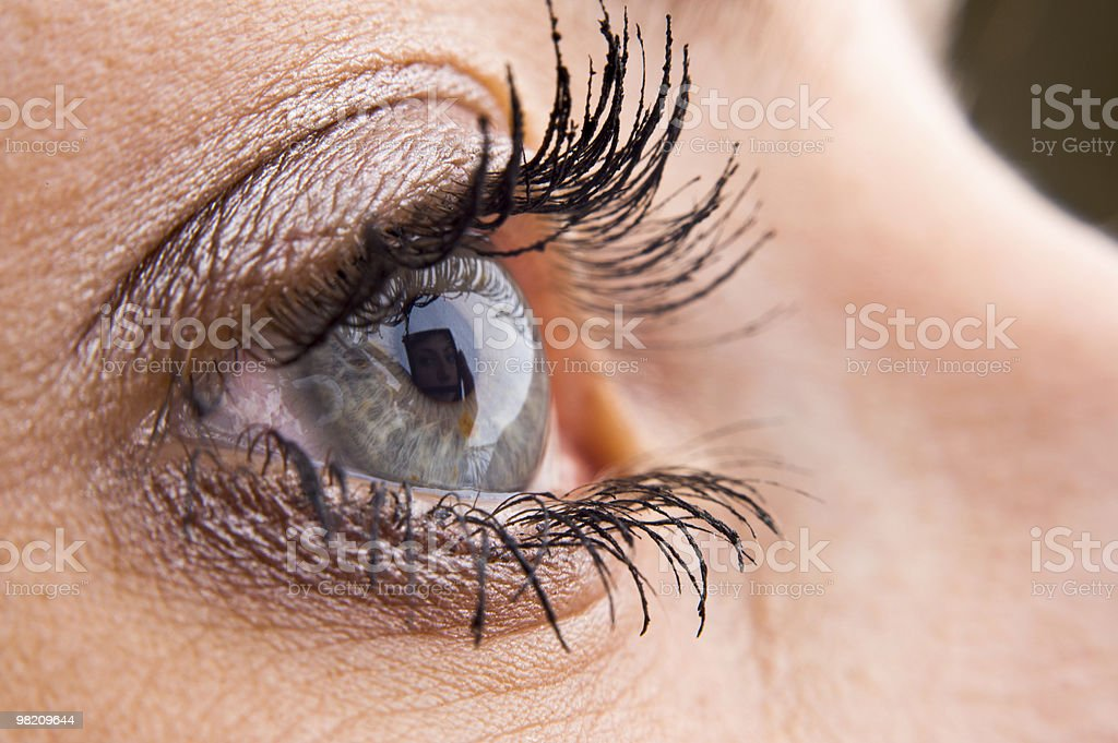 Close-up of a beautiful eye royalty-free stock photo