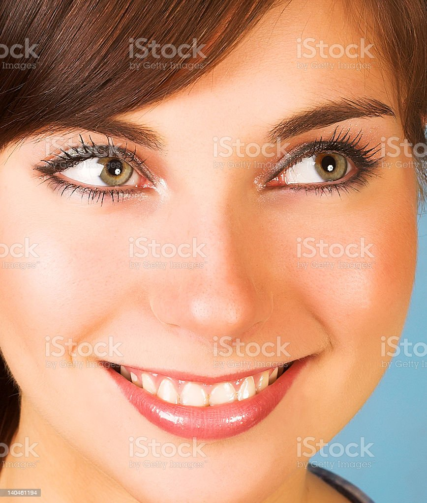 Close-up of a beautiful face royalty-free stock photo