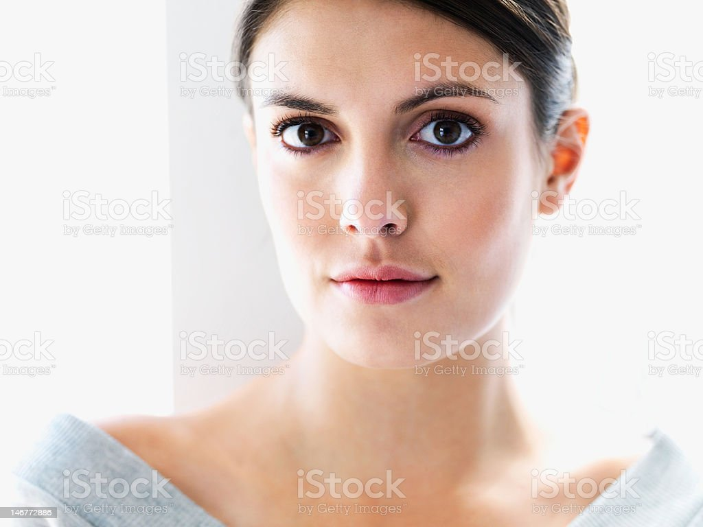 Closeup of a beautiful young confident woman royalty-free stock photo