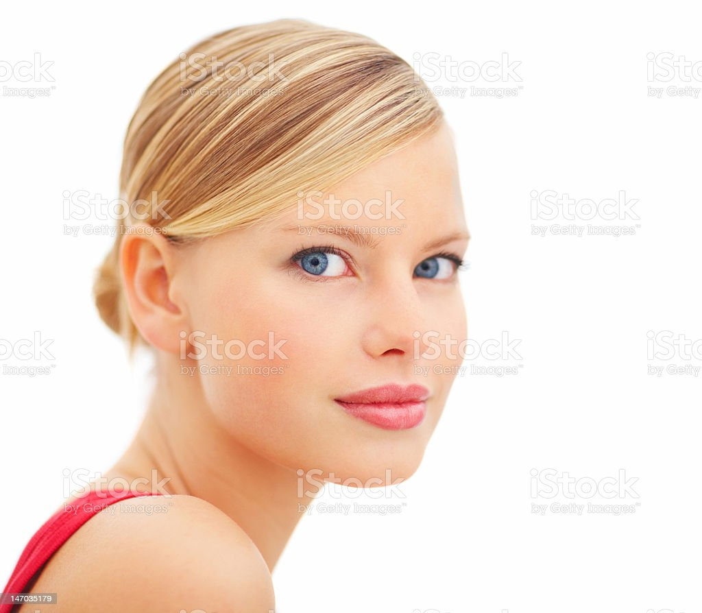 Close-up of a beautiful young woman royalty-free stock photo