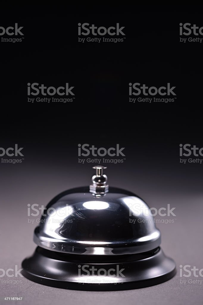 Closeup of a bell stock photo