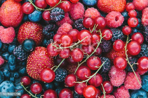 841659594 istock photo Close-up of a berry mix background 1028401236