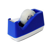istock A close-up of a blue scotch tape holder on white 467468371