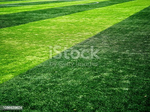 istock Close-up of a boundary line on a soccer field 1086639624
