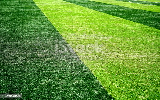 istock Close-up of a boundary line on a soccer field 1086639650