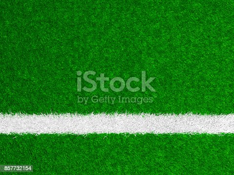 istock Close-up of a boundary line on a soccer field 857732154