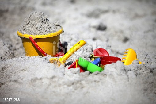 bucket and shovel in the sand