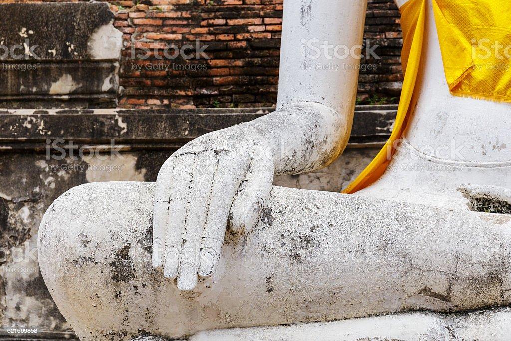 Nahaufnahme eines Buddha-statue Lizenzfreies stock-foto