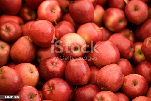 Lots of red apples