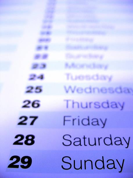 Nahaufnahme von einem Kalender 1 – Foto
