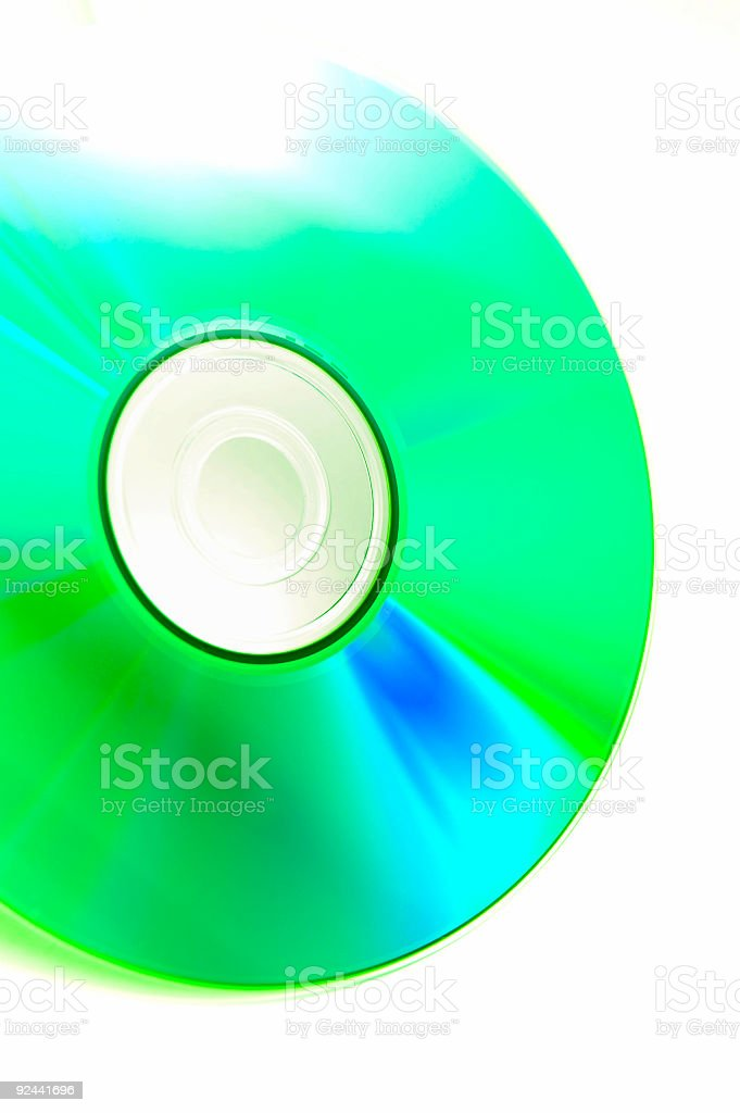 Close-up of a CD stock photo