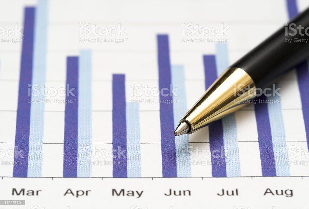 Closeup of a chart royalty-free stock photo