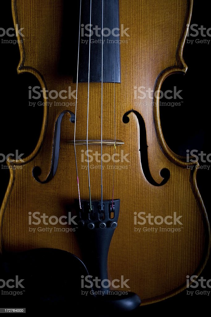 Close-up of a classical violin stock photo