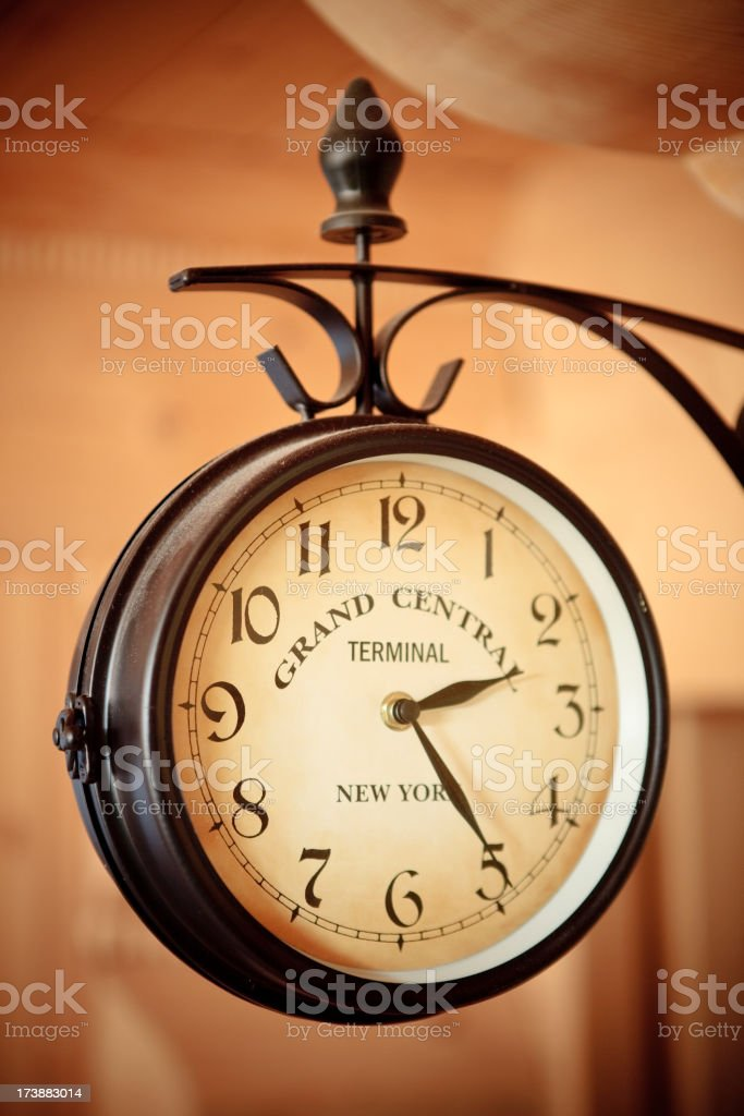 Close-up of a clock at Grand Central station royalty-free stock photo