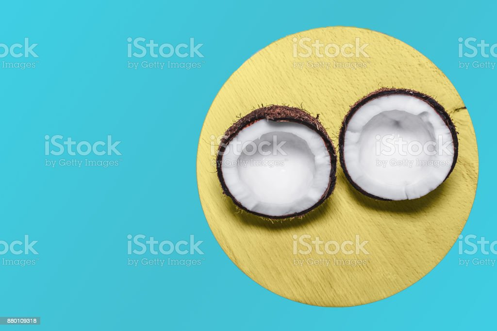 Close-up of a coconut stock photo
