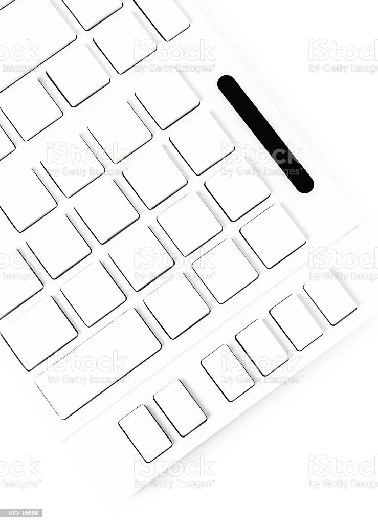 Closeup of a computer keyboard with blank keys. royalty-free stock photo