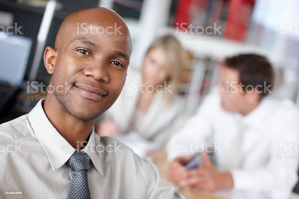 Closeup of a confident African American business man royalty-free stock photo