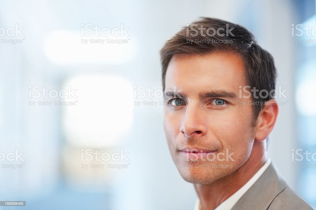Close-up of a confident businessman royalty-free stock photo