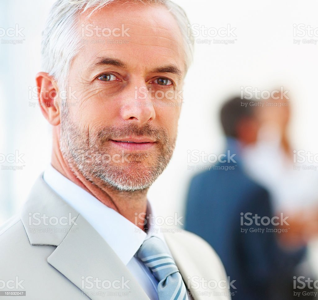 Close-up of a confident mature businessman royalty-free stock photo