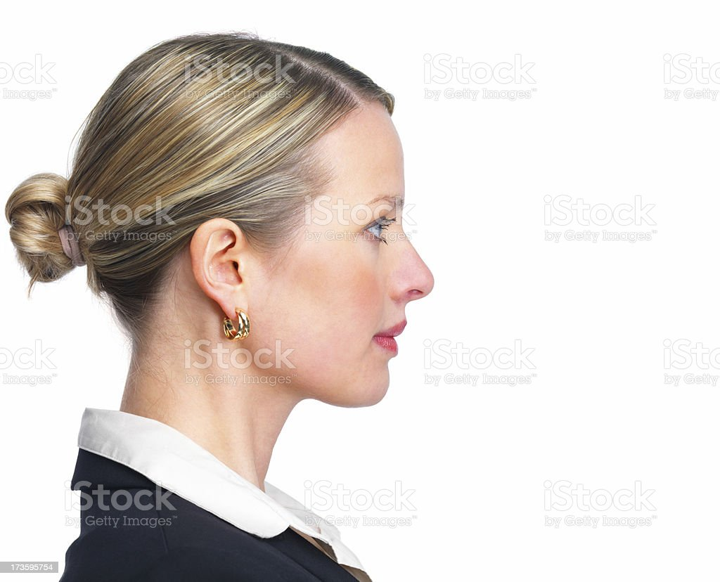 Close-up of a confident young businesswoman stock photo