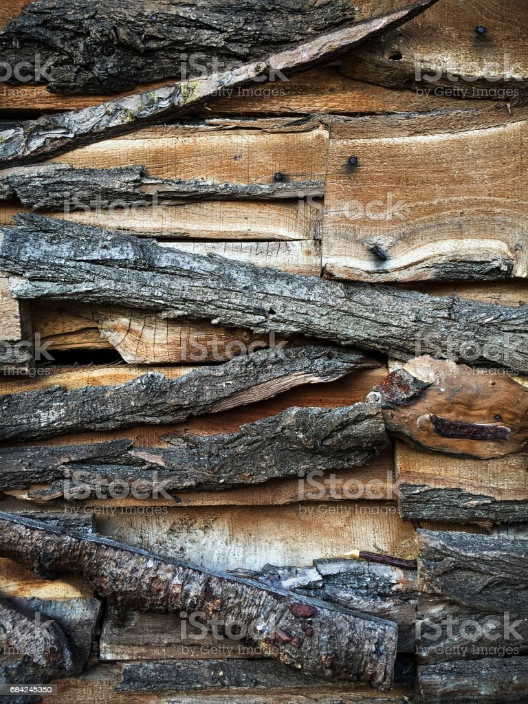 Close-up of a cottage facade royalty-free stock photo