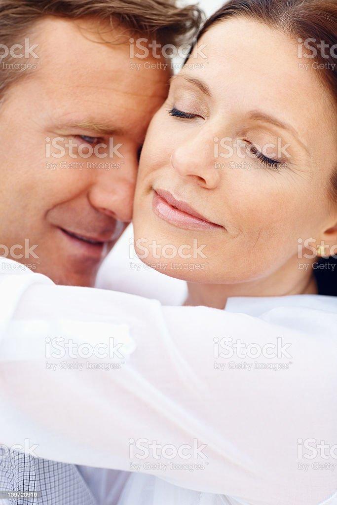 Closeup of a couple romacing royalty-free stock photo