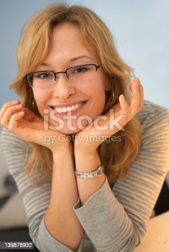 istock Closeup of a cute young female model smiling 139878932