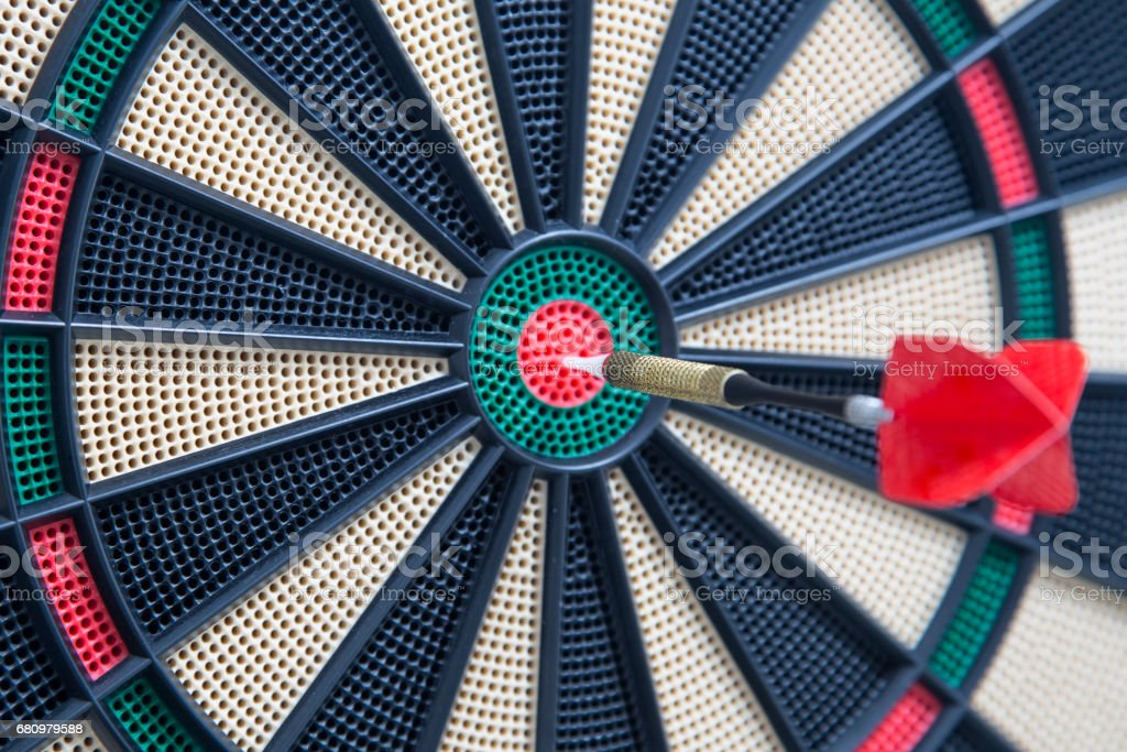 Closeup of a dartboard bullseye stock photo