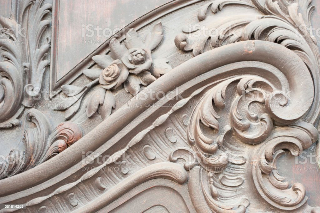 Close-up of a Decorative Door stock photo