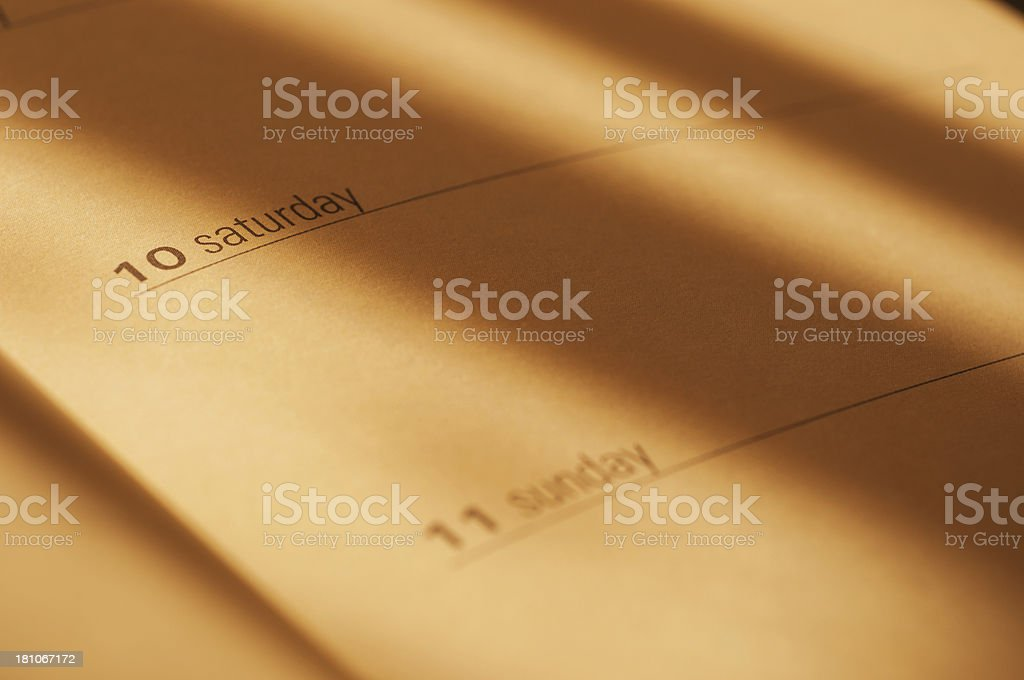 Close-up of a desk calendar royalty-free stock photo