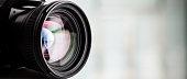 istock Close-up of a digital camera. Large copyspace 538773438