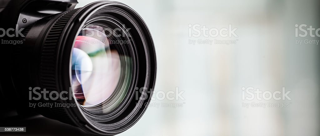 Close-up of a digital camera. Large copyspace – Foto