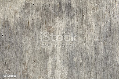 Close-up surface of an aged sheet of plywood, scratched and cracked, texture for background.