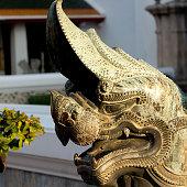 Bangkok, Thailand-January13, 2017 : Royal Palace : detail of an ornement of a hand railing like a dragon.