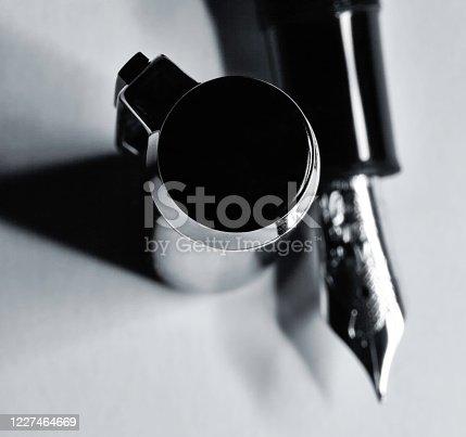 Macro photo of fountain pen