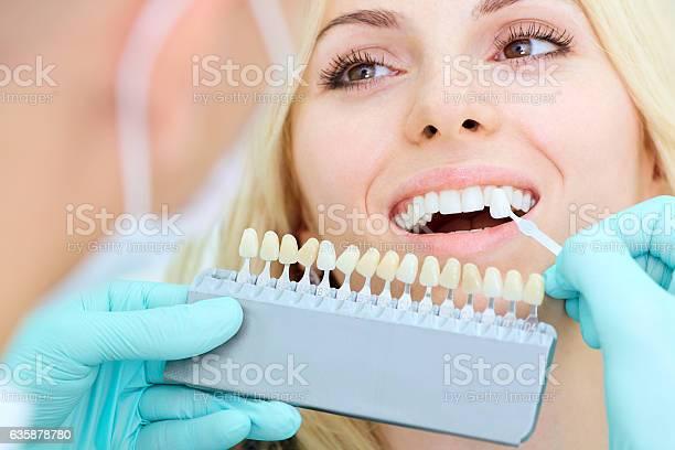 Nahaufnahme Eines Mädchens Mit Schönem Lächeln Beim Zahnarzt Stockfoto und mehr Bilder von Ausrüstung und Geräte
