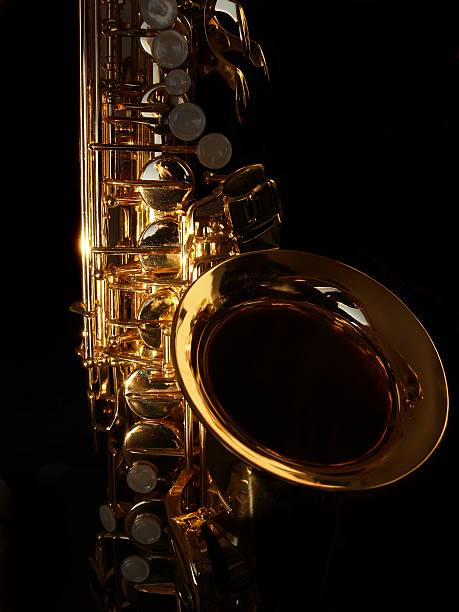 golden sax - altsaxophon stock-fotos und bilder