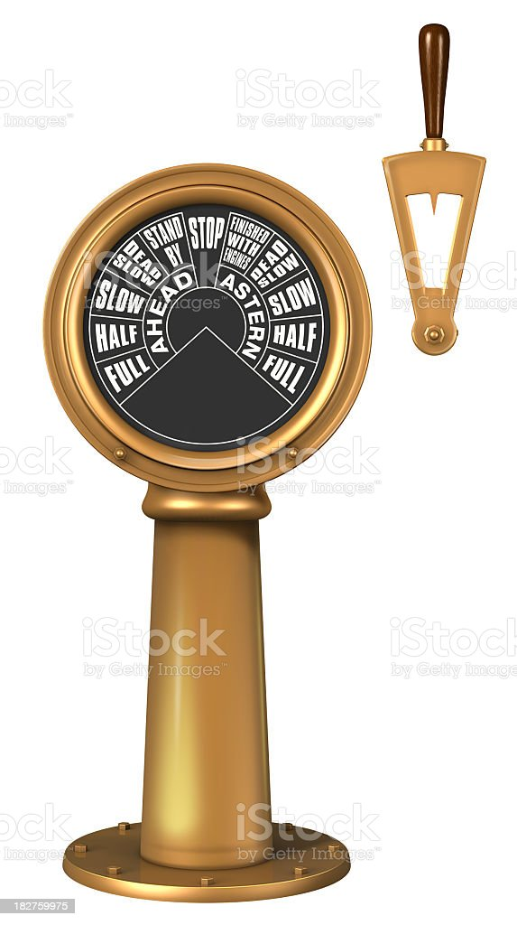 Close-up of a golden Shipaas Telegraph stock photo