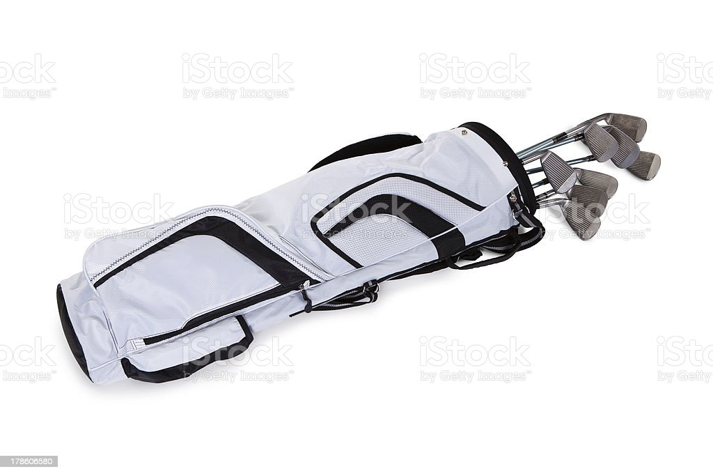 Close-up Of A Golf Bag royalty-free stock photo