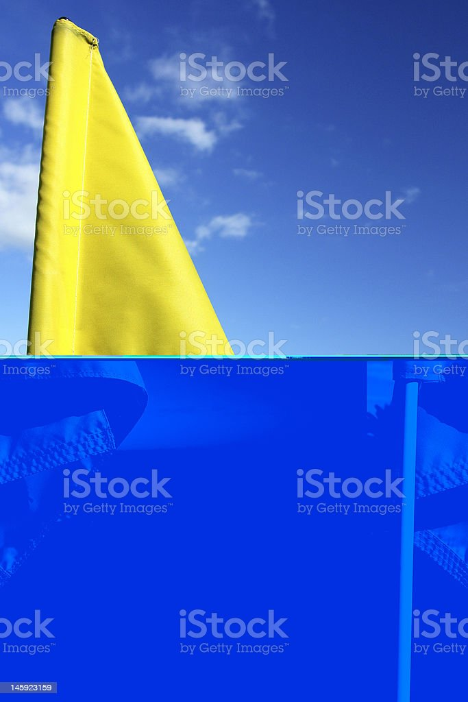 Close-up of a golf flag stock photo