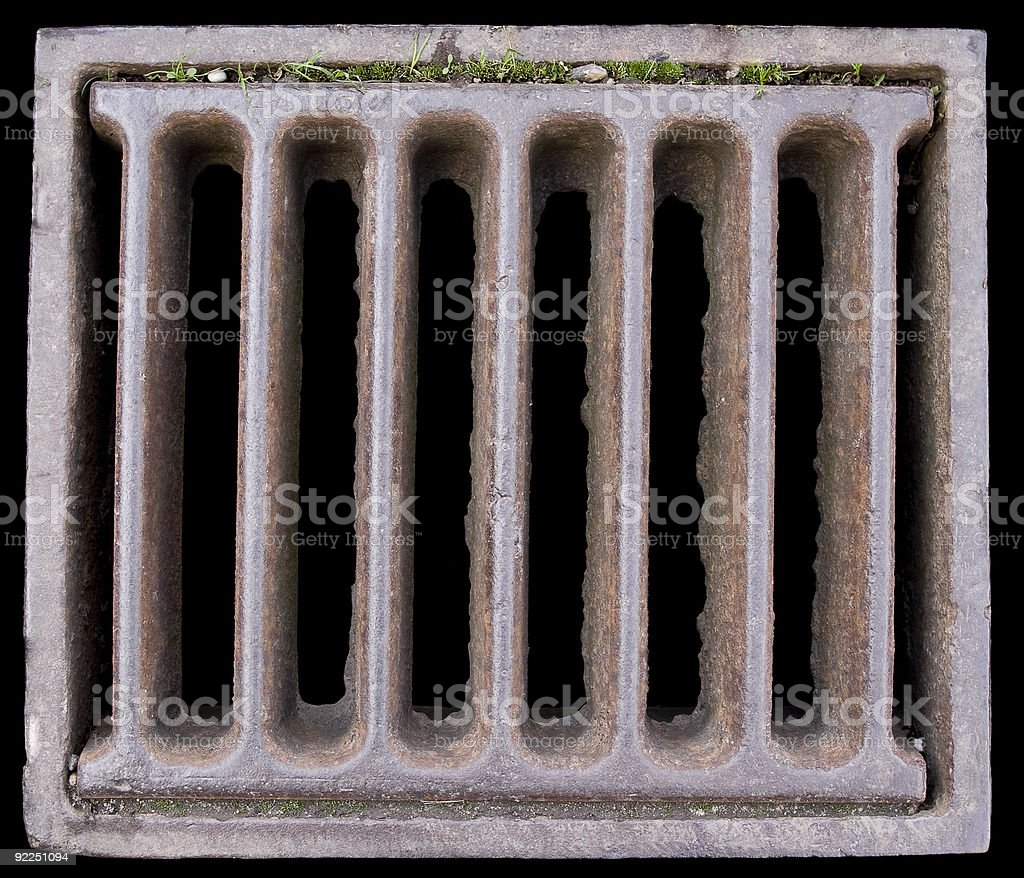 Close-up of a Grate stock photo