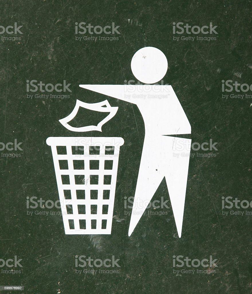Close-up of a green bin stock photo